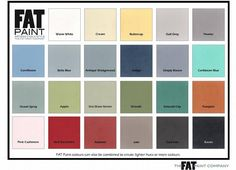 FAT Paint color chart. Available at T'ost and Found Interiors, Clinton, MS. Follow us on Fb and Instagram.