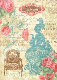 Rice Paper for Decoupage Scrapbook Craft Girl and Dog 80