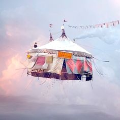 Oh the lovely things: Flying Houses by Laurent Chehere