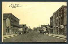 Old Indian Lake Ohio | ... Center,Ohio-Ma in Street West-1910-Indi an Lake-Bellefont aine 1k93