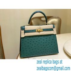 HERMES OSTRICH LEATHER KELLY 25 BAG Malachite Luxury Bags, Malachite, Hermes Kelly, Leather, Hermes Kelly Bag