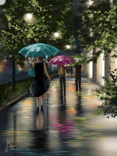 ~ Drizzle By Veronica Minozzi Digital Art - iPad Painting ~