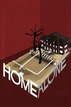 An alternative movie poster for the film Home Alone, created by Edgar Ascensao, featured on AMP Minimal Movie Posters, Minimal Poster, Cinema Posters, Cool Posters, Home Alone Movie, Poster Minimalista, Non Plus Ultra, Images Gif, Blockbuster Movies