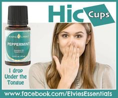 Hiccups? Try YL's peppermint essential oil. Please purchase oils from  www.EssentialOilsEnhanceHealth.com