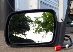 93-95 Jeep Grand Cherokee Heated Left Side Door Mirror Power Drivers LH