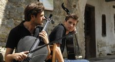 2CELLOS This was a photo shoot from the video With or Without You, though the video was never finished.