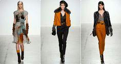 Fashion Fall/Winter John Galliano 2014 love the orange and bright colors in the winter.