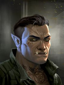 male ork; shadowrun