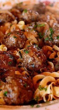 .  Salisbury Steak Meatballs~Made it tonight...soooooo yummy!