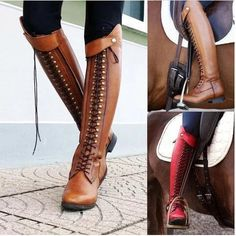 140f57c7669 Retro Knee Rivet With Thick Heel Boots