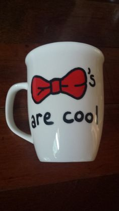 Items similar to Bowties Are Cool - Novelty Doctor Who Mug on Etsy Doctor Who Mug, Eleventh Doctor, Greek Flag, Diy Gifts, Handmade Gifts, Do It Yourself Crafts, Cool Mugs, Dr Who, Appreciation