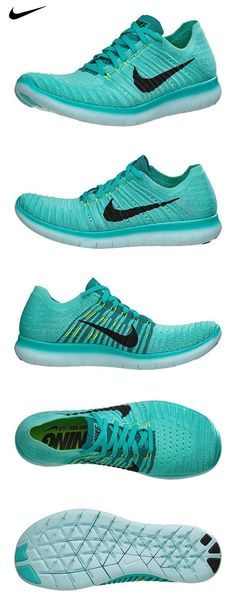 competitive price 9976a 40c67 Womens Nike Free RN Flyknit HYPER TURQ BLACK-VOLT-RIO TEAL 10.5