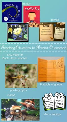 Teaching students the differences between making inferences, drawing conclusions, and predicting outcomes may be one of the most difficult skills to teach. Creative Teaching, Student Teaching, Teaching Ideas, Teaching Resources, Reading Skills, Teaching Reading, Predicting Activities, Brochure Folds, Making Predictions