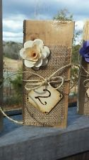 Wedding Table Numbers Rustic Set of 12 any color flower