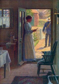 Edmund Blair Leighton - The Post. #readers #reading #books