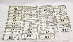 1957-B 1 One Dollar Bill Blue Seal Silver Certificate circulated Currency Note #US Mint #silver #cert #one #dollar #bill #note #currency #paper #money
