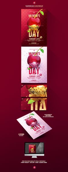 Creative Valentine Templates on Behance Available on #envatomarket Download #template #flyer #poster #postcards #valentinesday #valentine #day #love #party #graphicriver #romecreation