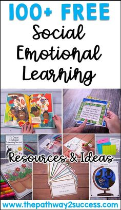 100+ free resources and ideas for social emotional learning, including printables, videos, strategies, social media links, books, and more. #pathway2success #socialemotionallearning #sel