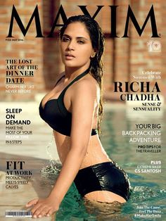 Photo Moment : Richa Chadda Sizzles on Maxim Magazine Cover Page  click here : http://www.hdwallposters.com/film-news/photo-moment-richa-chadda-sizzles-on-maxim-magazine-cover-page/