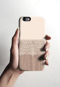 iPhone 6 case, matte iPhone 5s case, iPhone 5C case, iPhone 4s case with cream floral wood pattern, Christmas gift 634