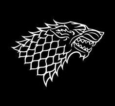 """Game of Thrones House Stark Grey Direwolf Emblem Vinyl Die Cut Decal Sticker 6"""" White StickersBeyond http://www.amazon.com/dp/B008Y2S4EA/ref=cm_sw_r_pi_dp_KZGWtb0GN0SR94A4"""