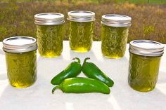 Canning Jalapenos. Great looking jam located at www.canning-basics.com