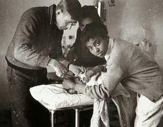 Miss Kee en el hospital de sangre de la XV BI, Cuenca 1937.