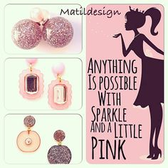 Orecchini, fashion jewelry, pink, earrings, made in Italy, matildesign, bijoux, rosa