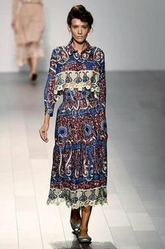 Katya Tolstova walks the runway for Francesca Liberatore SS18 Marie Clair  #nyfw #newyorkfashionweek #spring2018