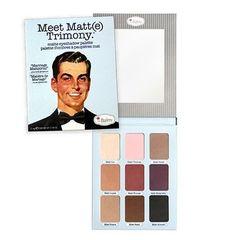 the Balm MEET MATT(E) TRIMONY - paleta 9-ciu matowych cieni zamkniętych w oryginalnym, kartonowym opakowaniu z dużym lusterkiem. Cienie mają doskonałą pigmentację, niezwykle gładką, aksamitną konsystencję i są bardzo trwałe. Paleta idealna do makijaży ślubnych, ale też takich na co dzień.