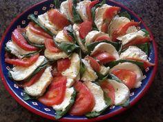 Tomato, basil, mozarella