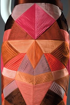 intarsia + high craft + quilting -  roberto capucci