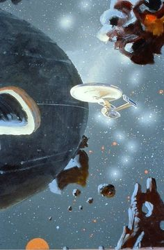 Robert McCall's 1979 concept art for Star Trek: The Motion Picture http://ift.tt/1YV8fuA #scifi #art