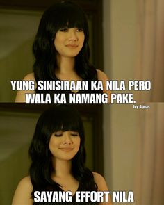 Crush Quotes Tagalog, Tagalog Quotes Patama, Tagalog Quotes Hugot Funny, Funny Qoutes, Jokes Quotes, Memes Pinoy, Pinoy Quotes, Filipino Funny, Filipino Quotes