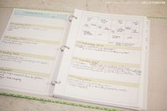Free printable Project Life weekly planner