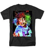 Whitney Houston Grunge T-Shirt by Daniel Janda