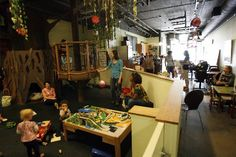 Twirl Coffee Shop on Queen Anne...fantastic kids play area...Image via Seattle times