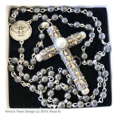 Cruel Intentions Necklace//Rosary Sterling Silver Choice of Gemstone