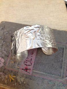 Reticulated silver cuff