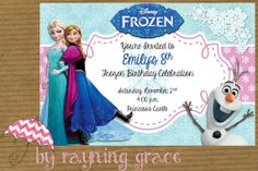 Disney Frozen Birthday Party Invitations by RayningGrace on Etsy, $9.00