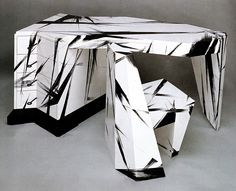 Dr. Caligari Desk and Chair Wendell Castle 1986