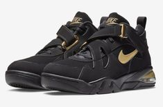 nike AIR FORCE MAX CB BLACKMETALLIC GOLD bei