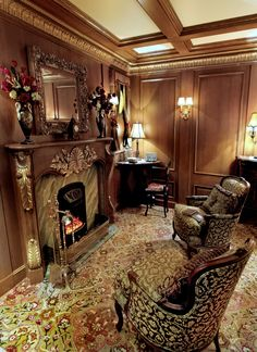A fireplace on the Titanic