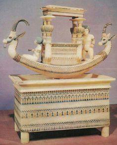 Alabaster Boat found in King Tutankhamun's Tomb.