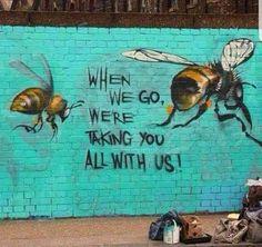 Embedded Image Link - Art,Street Art,Kunst, Malerei etc - The Animals, Animals Planet, Street Art Banksy, Banksy Artist, Graffiti Kunst, Graffiti Artwork, Urbane Kunst, Foto Poster, Link Art