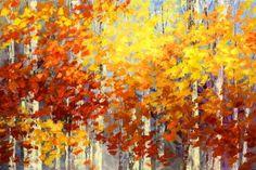 "Artist Tatiana Iliina; Painting, ""Gold and Rust"" #art #fallfoliage #original"