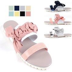 NEW Summer Women Ribbon Sandals&Handmade leather shoes&beatiful lace PINK #Handmade #Sandals