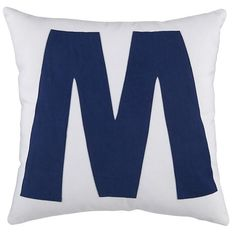The Land of Nod | Kids Throw Pillows: Letter M Throw Pillow in Throw Pillows