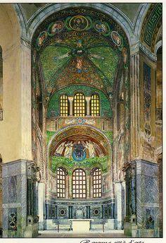 Very nice view of the interior in the S. Vitale Basilica-Apse, Ravenna , Province of Ravenna , Emilia Romagna region Italy