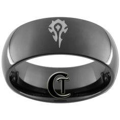 Horde on Tungsten metal. might be a new wedding ring...